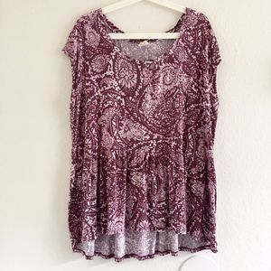 Faded Glory Printed Blouse